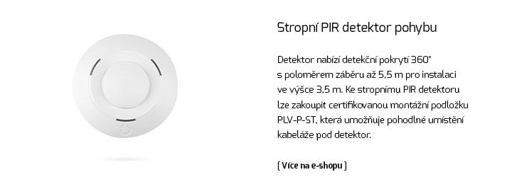 Sběrnicový stropní PIR detektor pohybu.