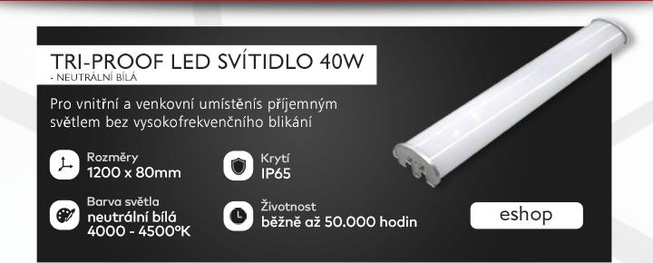 Tri-Proof LED svítidlo, 40W