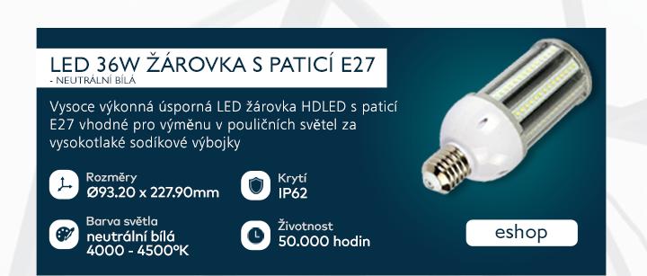LED 36W žárovka s paticí E27