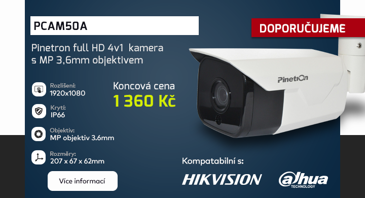 PCAM50A 4v1 3.6mm