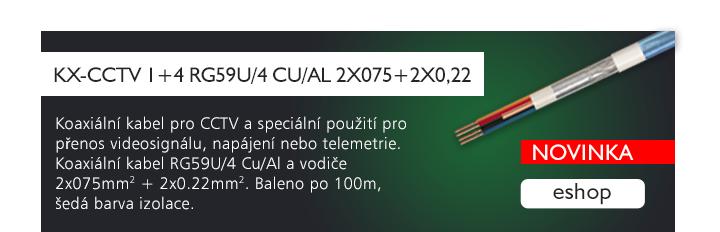 KX-CCTV 1+4 RG59U/4 Cu/Al 2x075+2x0,22
