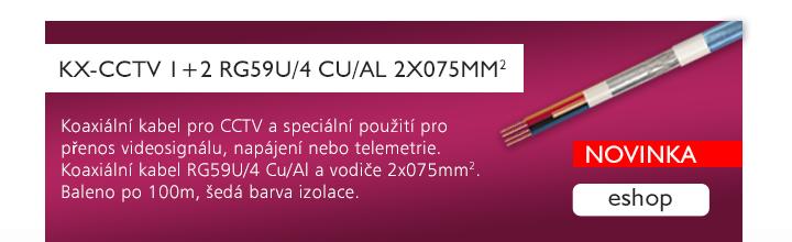 KX-CCTV 1+2 RG59U/4 Cu/Al 2x075mm2