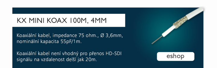 KX MINI KOAX 100m, 4mm