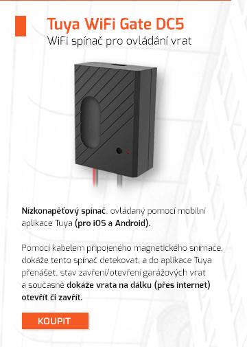 WiFi spínač pro ovládání vrat