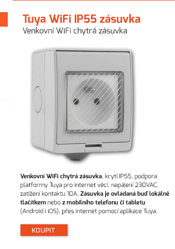 Venkovní WiFi chytrá zásuvka
