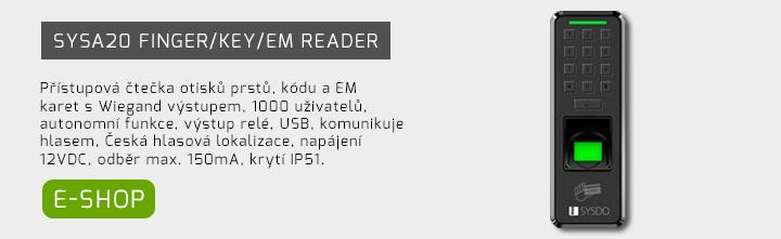 SYSA20 Finger/Key/EM Reader