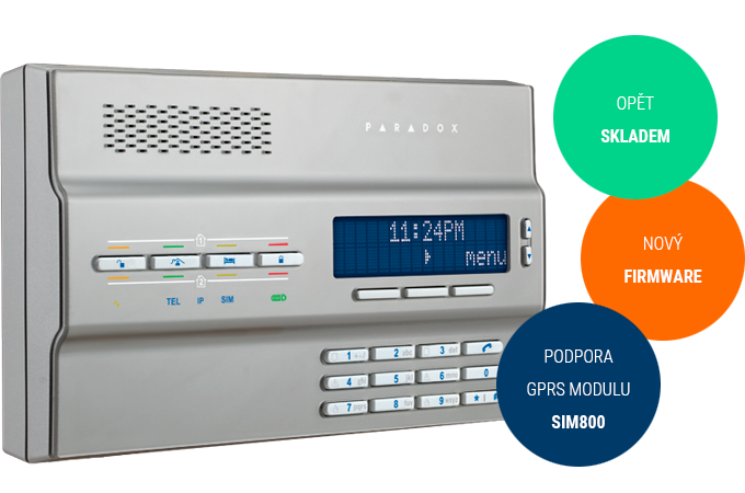 MG6250 - opět skladem, nový firmware, podpora GPRS modulu SIM800