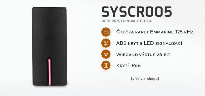 SYSCR005 - RFID přístupová čtečka