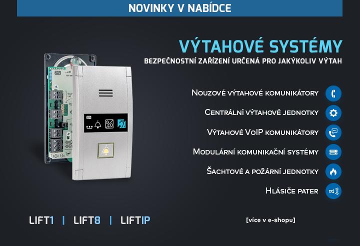 |  Výtahové systémy LIFT1, LIFT8 a LIFTIP  |