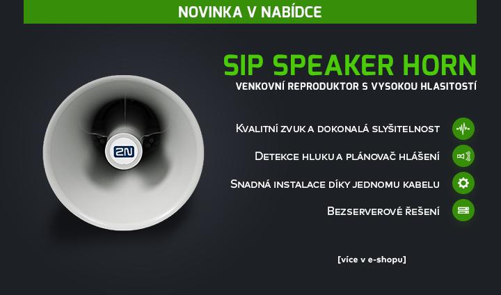 |  Luxusní venkovní reproduktor SIP Speaker Horn  |