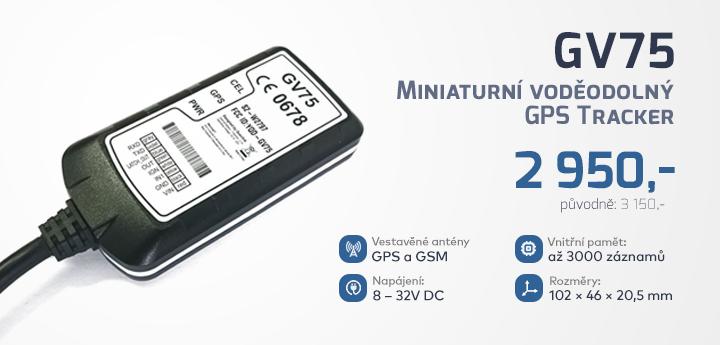 |  Miniaturní GPS tracker GV75  |