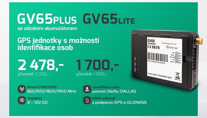 |  GPS jednotky GV65plus a GV65lite  |