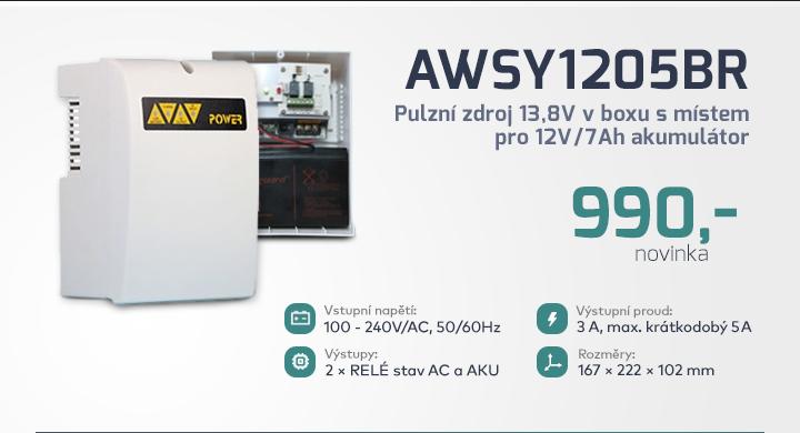 |  Pulzní zdroj v boxu AWSY1205BR  |