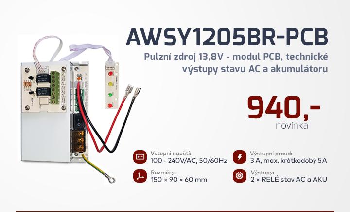 |  AWSY1205BR - PCB - Pulzní zdroj 13,8 modul PCB  |