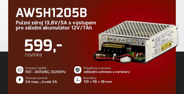 |  AWSH1205B - Pulzní zdroj 13,8V/5A  |