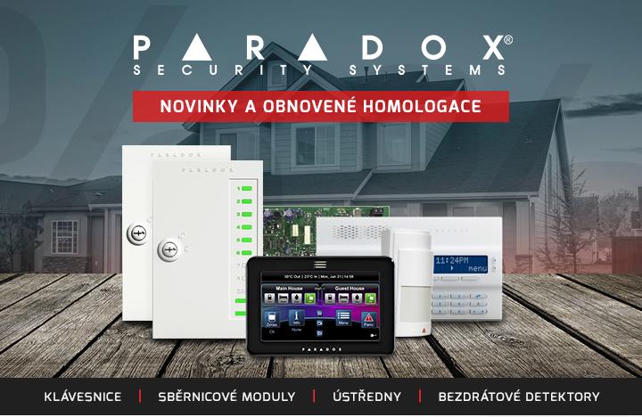 |  Novinky a obnovené homologace Paradox  |