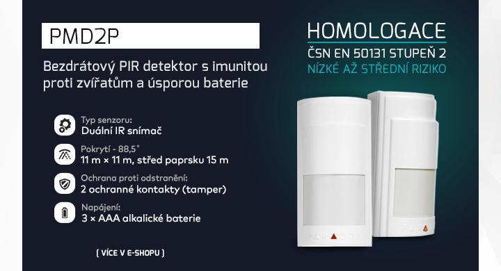 |  Bezdrátový PIR detektor PMD2P  |
