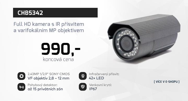 |  CHB5342 - Full HD kamera s IR přísvitem  |