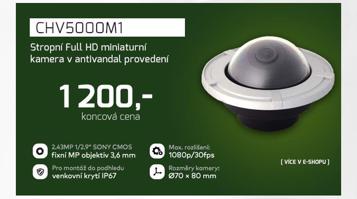 |  CHV5000M1 - stropní Full HD miniaturní kamera  |