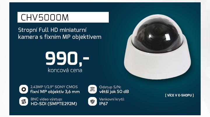 |  CHV5000M - stropní Full HD kamera s fixním objektivem   |