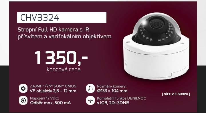 |  CHV3324 - stropní Full HD kamera s IR přísvitem  |
