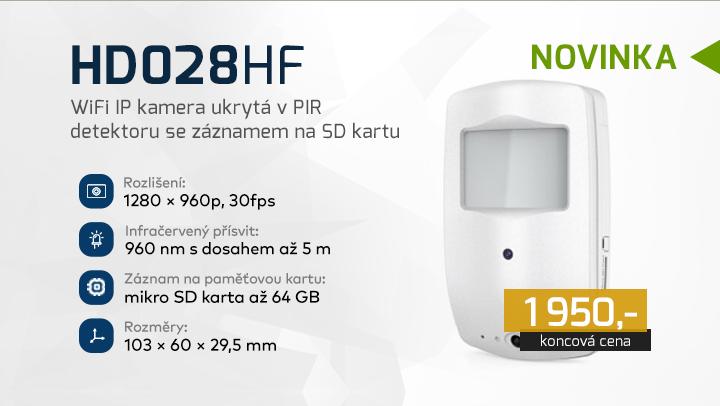 |  HD028HF - IP kamera ukrytá v detektoru  |