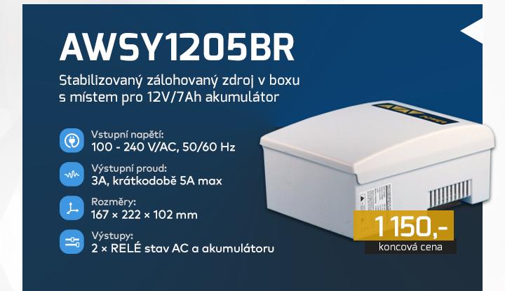 |  AWSY1205BR - stabilizovaný zálohovaný zdroj  |