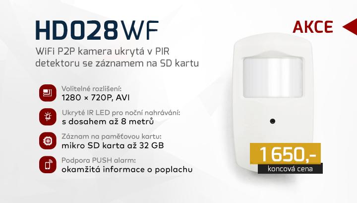 |  HD028WF - IP kamera ukrytá v detektoru  |