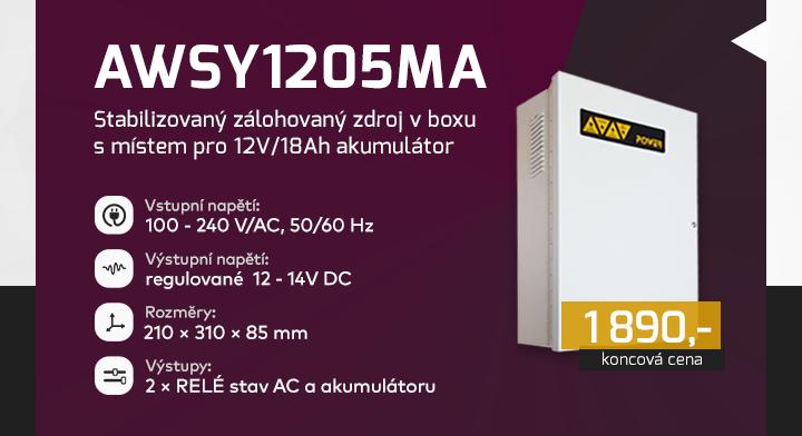 |  AWSY1205MA - stabilizovaný zálohovaný zdroj  |