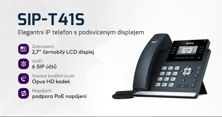 |  Elegantní IP telefon s displejem  |