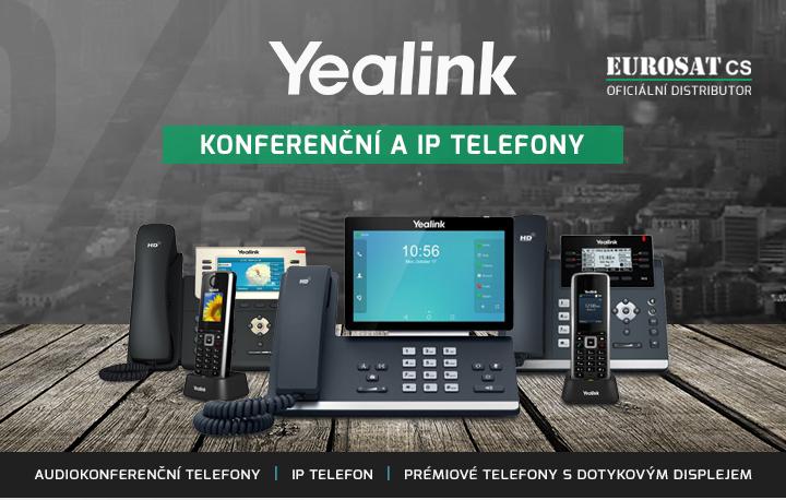 |  Konferenční a VoIP telefony Yealink  |