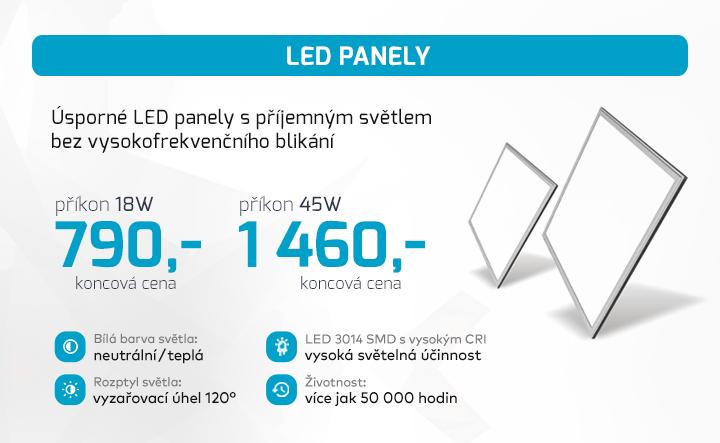 |  Úsporné LED panely  |