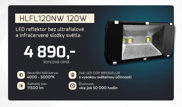 |  LED reflektor s příjemným světem  |