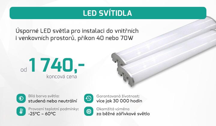 |  Úsporné LED světla s příkonem 40 nebo 70W  |