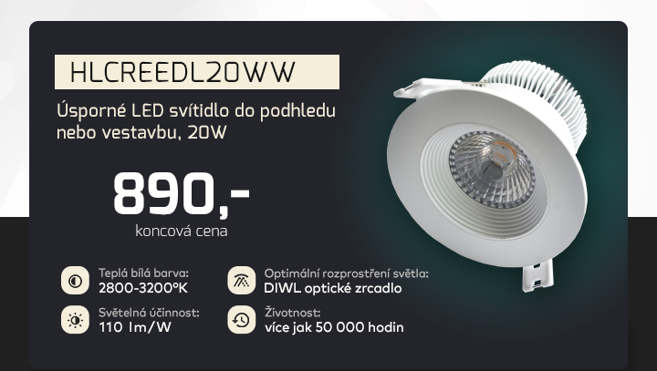 |  Úsporné LED svítidlo do podhledu  |