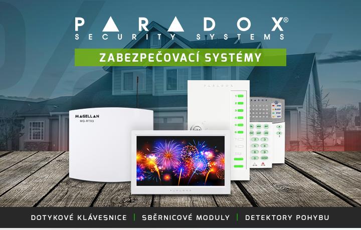 |  Zabezpečovací systémy Paradox  |