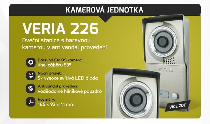 |  Kamerová jednotka Veria 226  |