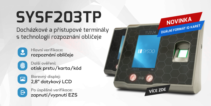 |  Docházkový terminál SYSF203TP  |