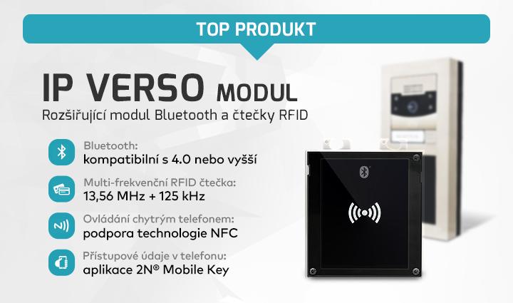 |  IP Verso modul - Bluetooth a RFID  |